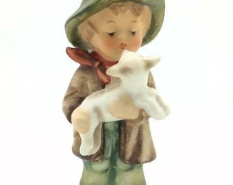 "Vintage Hummel Figurine 68 TMK6 Lost Sheep Boy in Hat Goebel 4.5"" 12cm"