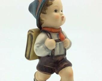 Large Vintage Hummel Goebel Porcelain Figurine 82/0 SCHOOL BOY Schoolbag TMK3