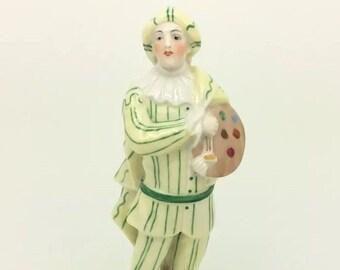 """Antique Naples Porcelain Italian Figurine Painter Figure Capodimonte 17cm 6.5"""""""