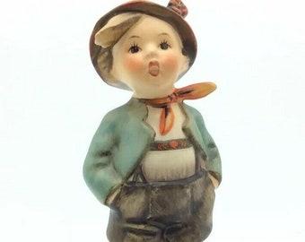 Vintage Goebel Hummel Porcelain Figurine Boy in Hat Red Scarf 95 Brother TMK3