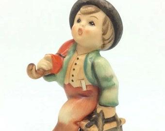 "Merry Wanderer Boy Luggage Goebel Hummel Porcelain Figurine 11 TMK3 4"" 11cm"