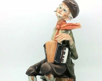 Italian Porcelain Capodimonte Figure Flavia Barbetta Accordion Musician Man