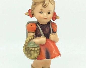 "Vintage Hummel Goebel TMK3 81 School Girl Porcelain Figurine 4.5"" 11cm"