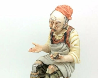 Capodimonte Cobbler Shoe Maker Beyond Repair Figurine Rori Italian Porcelain