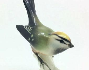 German Goebel Porcelain Bird Figurine Goldcrest Regulus Cortendorf Ornithology
