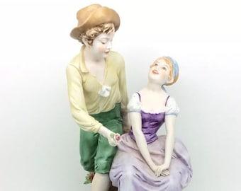 "Vintage Italian Porcelain Figure Triade Benacchio Figurine 11"" 28cm Continental"