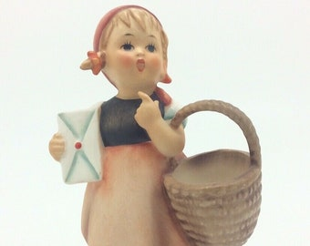 "Vintage Hummel Goebel Figurine 13 TMK4 Meditation Girl with Letter 4.5"" 11cm"