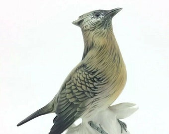 Continental Karl Ens Bird Crested Tit Paridae Porcelain Figure Ornithology 5.5""
