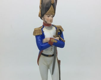 "Kaiser German Dresden Porcelain Soldier Figure Collectible Massena Sword 9"" 23cm"