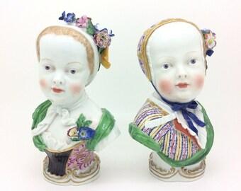Meissen Porcelain Figure Bust Bourbon Children Kaendler Princess Marie Zepherine