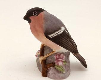 """ROYAL WORCESTER English Porcelain BIRD bullfinch 3238 matt figure pyrrhula 3"""""""