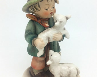 "Vintage Hummel Figurine 64 TMK3 Lost Sheep Shepherds Boy Goebel 5.5"" 14cm"