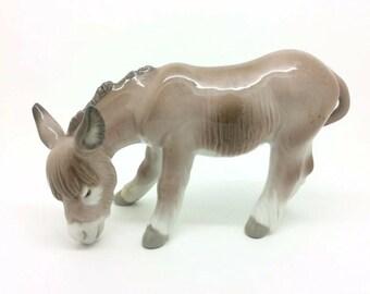Rare Vintage Lladro Figurine Donkey Eating Burro Nativity Burrito Comiendo 4821