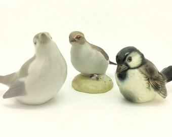 Vintage Porcelain Bird Figurine Sparrow Ornithology Goebel Frankenthal Aynsley