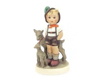 Vintage Hummel Goebel Porcelain Figurine Little Goat Herder TMK4 FM4 200