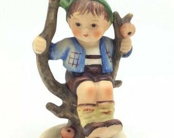 "Hummel Goebel Porcelain Figurine Apple Tree Boy 142 TMK3 4"" 10cm Vintage"