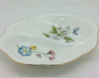 """Aynsley Bowl Trinket Dish Natures Delight Fine English Bone China Porcelain 7.5"""""""