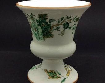 "British Porcelain Crown Staffordshire Bone China Kowloon Pattern Vase 3.75"" 9cm"