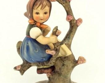 """Hummel Goebel Large APPLE TREE GIRL 141/1 TMK3 6"""" Springtime Collectible Figure"""