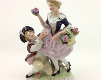Scheibe Alsbach Porcelain Figurine Courting Couple 17.5cm 7""