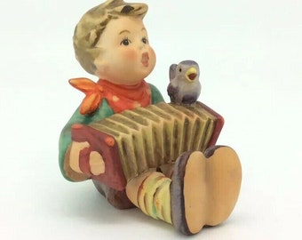 Hummel Lets Sing TMK5 110 Collectible Vintage Porcelain Figurine Boy Accordion