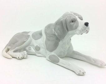 Continental Ernst Bohne Sohne English Pointer Hunting Dog Porcelain Figurine