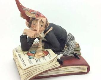 "Rare Italian Capodimonte IPA Porcelain Figure Radiologist Doctor Bookworm 5.5"""