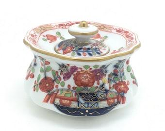 "Rare MEISSEN TISCHCHENMUSTER Imari Porcelain Inkwell Jar Lid 3.5"" 9cm"