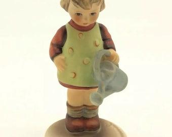 Goebel Hummel 74 Little Gardener TMK5 Girl watering Flower Porcelain Figurine