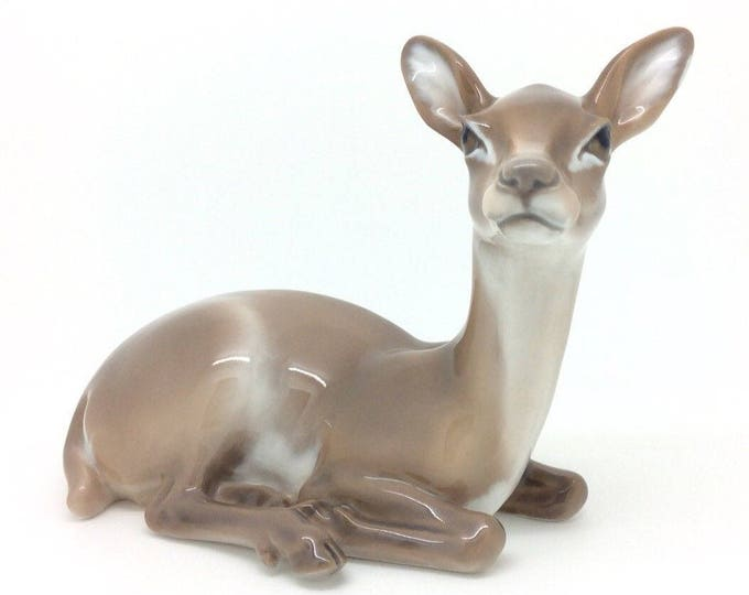 Featured listing image: Dahl Jensen COPENHAGEN Porcelain Animal Figurine Deer 1147 Excellent 18cm 7""