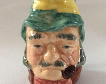 "Vintage Crown Windsor Staffordshire Miniature Character Jugs ""Gaffer"""
