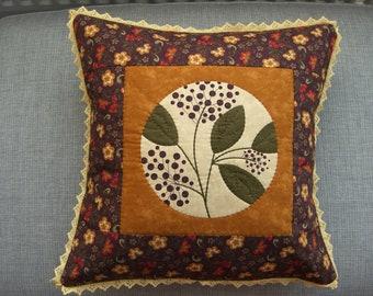 Plum & Mustard Berries Cushion