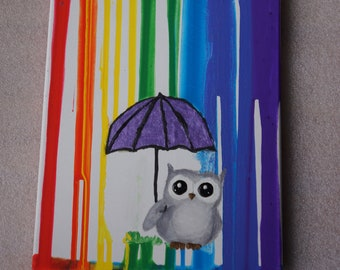 Individual Drip Painting with Image