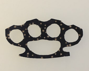 Brass Knuckles Iron-on Patch