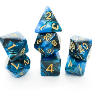 Lake Mist D/&D Dungeons and Dragons Dice Set DnD Pathfinder RPG Polyhedral Dice