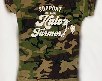 9a58265f9 Support Your Local Kalo Farmer Camo Bodysuit Newborn to 12Months Handmade  in Maui, HI Lola and Elia