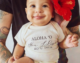 Poi Thighs /& Pretty Eyes Newborn Layette Gown with sewn in no scratch mittens Handmade in Maui HI