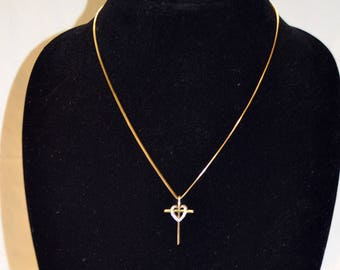 Vintage Vermeil Cross necklace