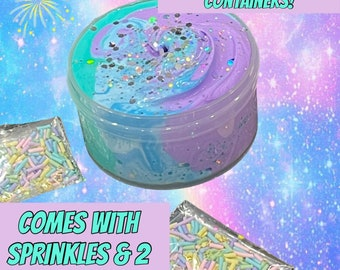 UNICORN Moon Mist BUTTER SLIME! Soft & Fluffy Inflating Scented Slime with Charm!