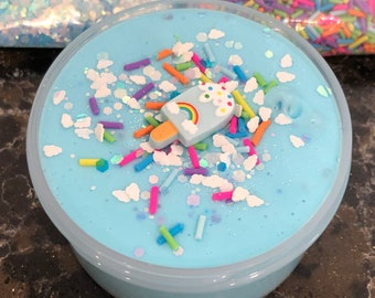 RAINBOW POPSICLE Scented Butter SLIME D.I.Y Clay in a Jar!