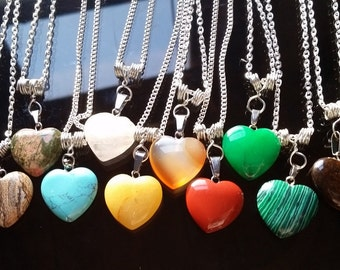 Crystal Heart Necklaces