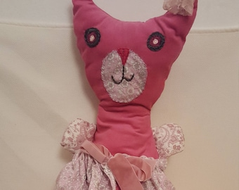 vintage cat doll with soft fabric