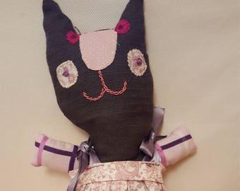 funny fabric cat doll
