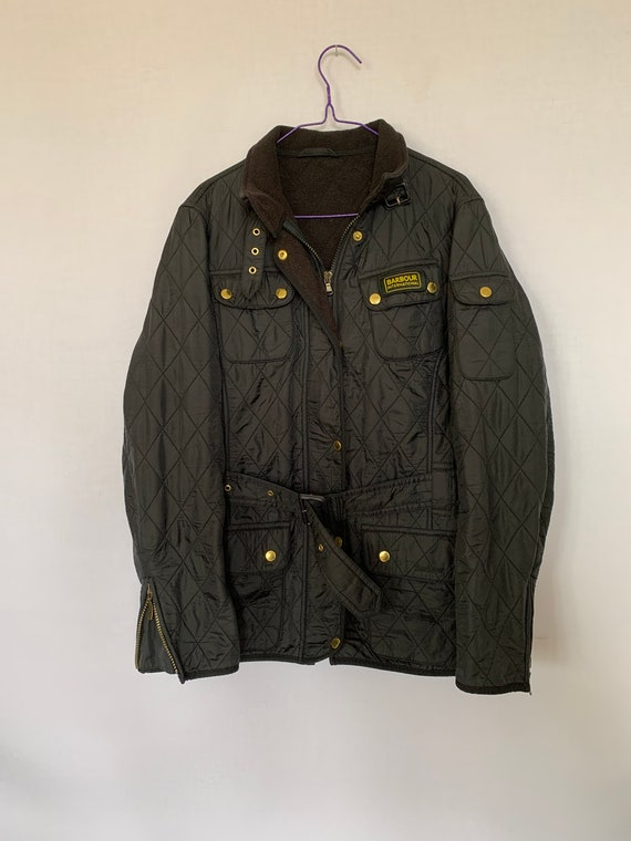 Barbour International Quilted Jacket With Belt