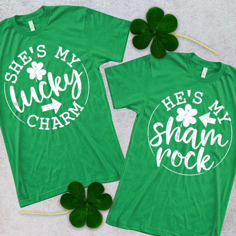 48c5fef55 He's my Shamrock T-shirt/ She's my Lucky Charm Shirt/ | Etsy