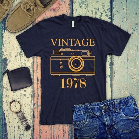 VINTAGE 1978 Shirt 40th Birthday Gift Tank Top Turning 40