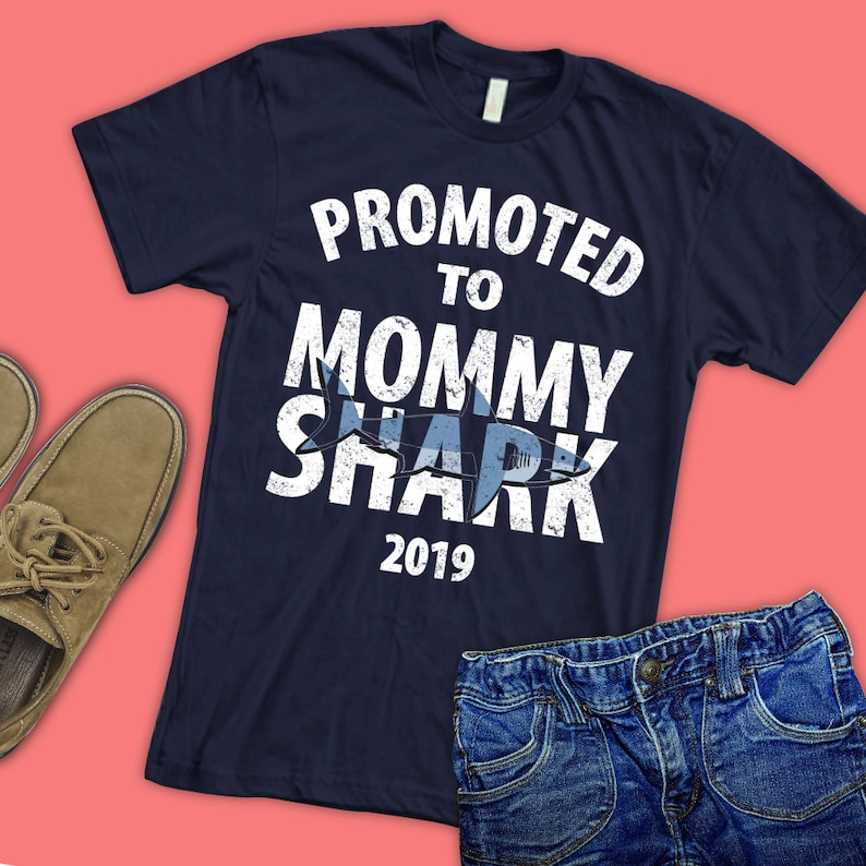 ef6e21c8b Promoted to Mommy 2019 T-shirt/ Pregnancy Announcement/ mommy   Etsy