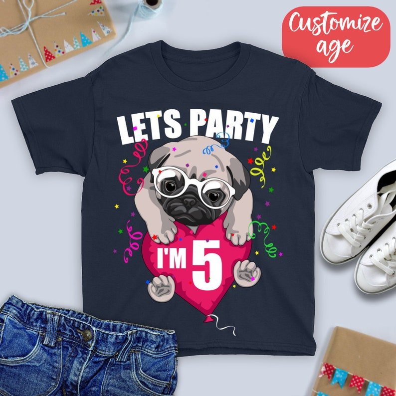 3c439cd54 I'm five Lets Party Shirt/ five Year Old Birthday T-Shirt/ | Etsy