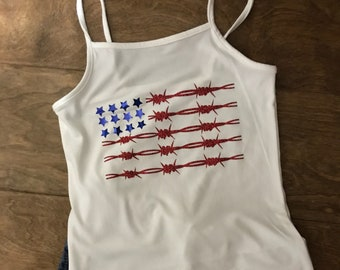 Memorial day/Fourth of July  american flag tank top