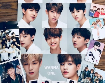 Kpop Goodie Bag! Wanna One! Random Selection of Photocards, Postcards, Stickers, Photos and Poster